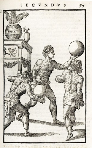 3 men playing with balls in renaissance times