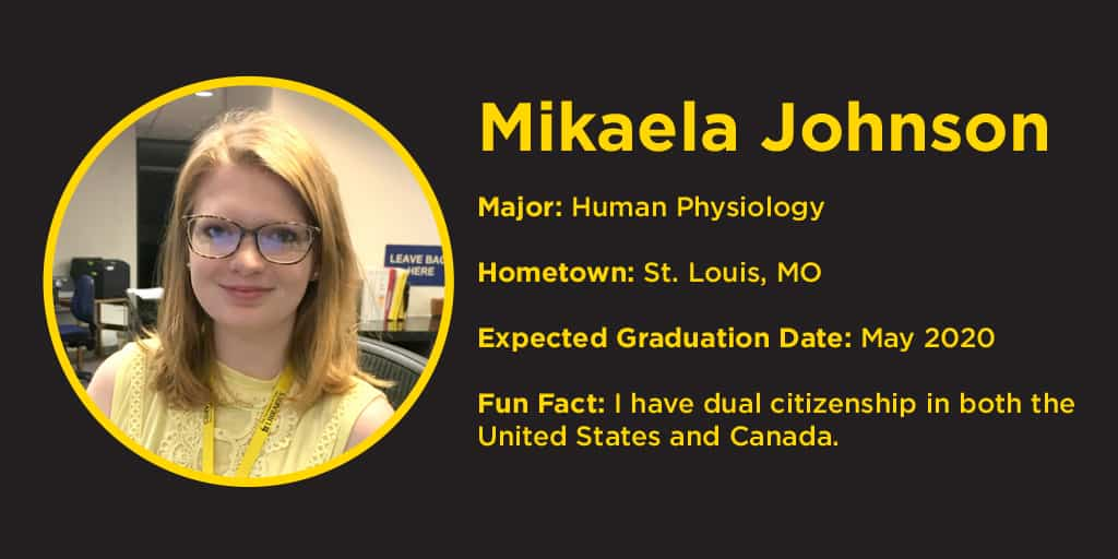 photo of Mikaela Johnson, hometown St. Louis, she has dual citizenship in Canada & US