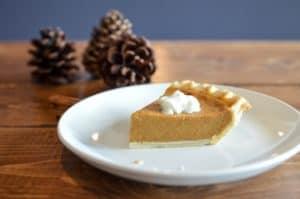 piece of pumpkin pie
