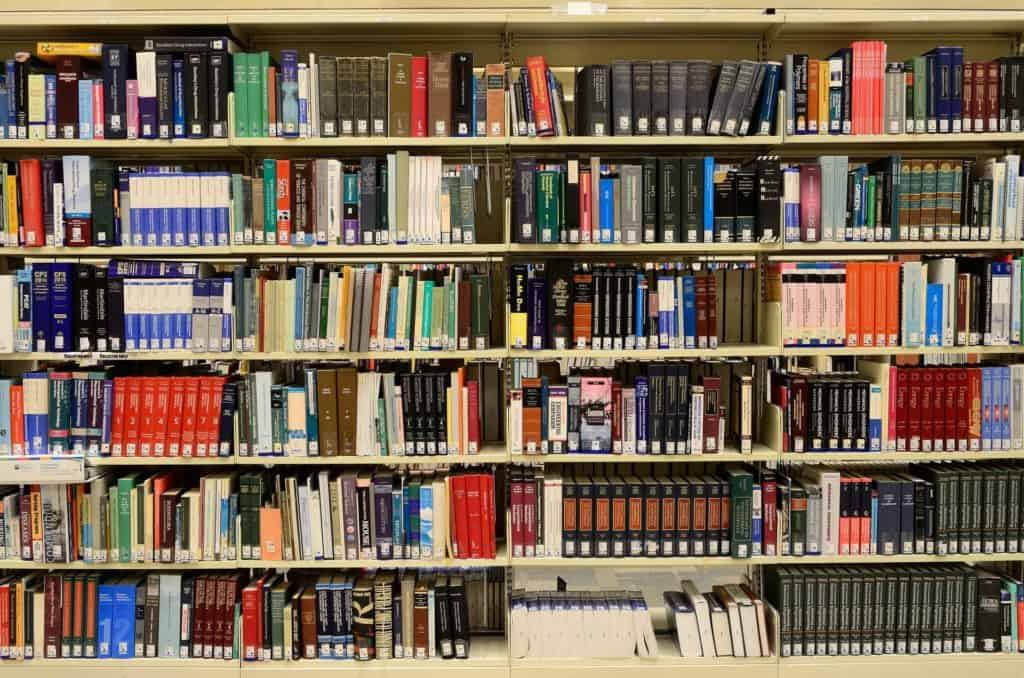 library bookstacks