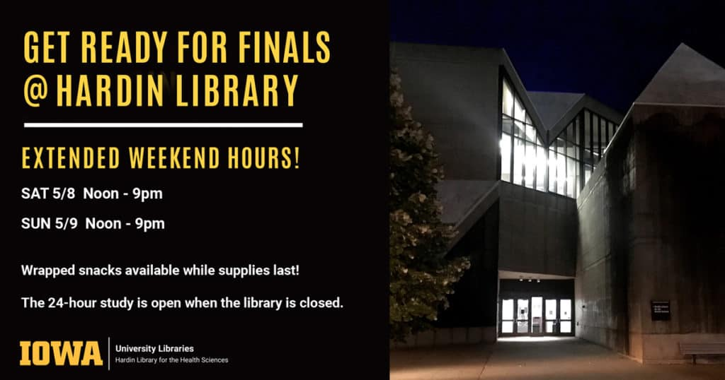 image of Hardin Library at night + information from post