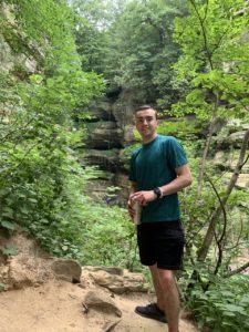 Joe Opferman outside in woods