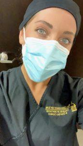 Kayla Erps in Dental gear