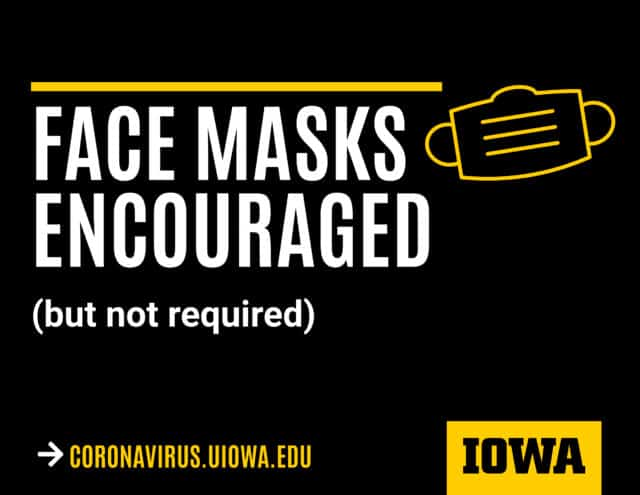 face masks encouraged but not required
