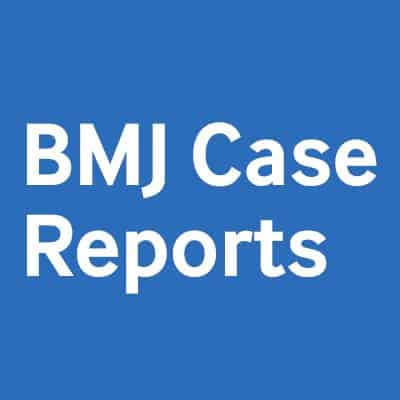says BMJ case reports on blue box