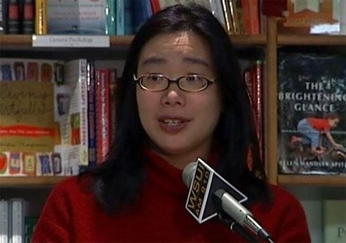 Lan Samantha Chang reading, Prairie Lights bookstore, Nov. 10, 2006
