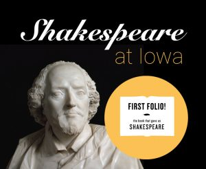 Banner for the Shakespeare at Iowa Exhibition