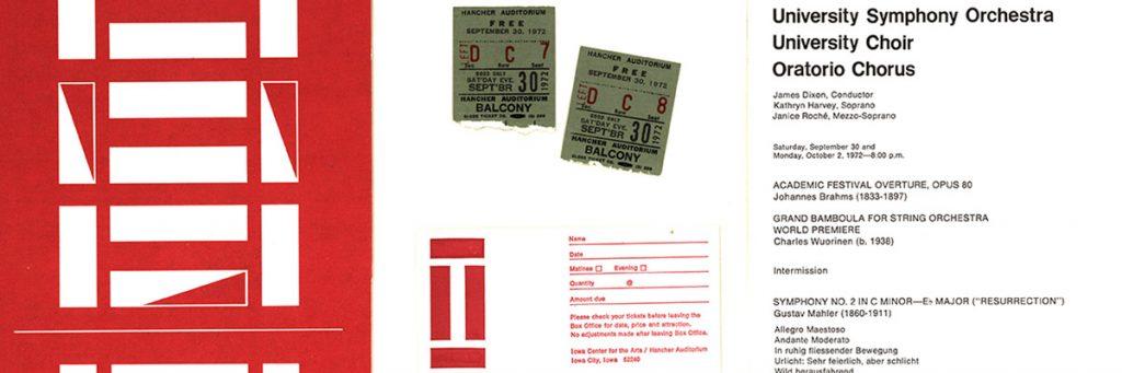concert program open from 1972 concert featuring Mahler 2