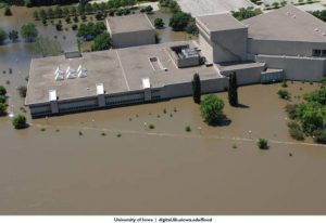 flooded voxman music building June 2008