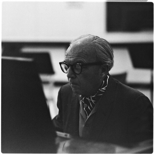 Ernst Krenek visit to UCSD (an3_m333_1189_1), Harry Crosby Photographs. MSS 333. Special Collections & Archives, UC San Diego