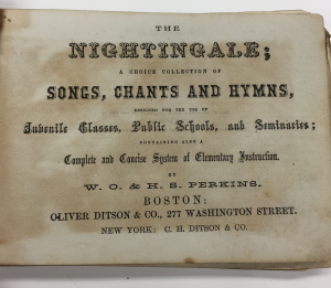 h s perkins the nightingale title page