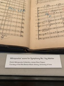 Mitropoulos' Mahler Symphony No. 1 on exhibit in New York