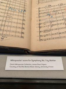 Mitropoulos' Mahler Symphony No. 1 on exhibit in New York