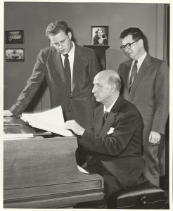 Dimitri Mitropoulos James Dixon and Himie Voxman at the piano