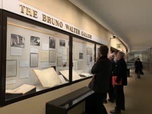 People viewing the Mitropoulos Exhibit