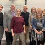 Benton scholarship winners with Ray Benton and library staff