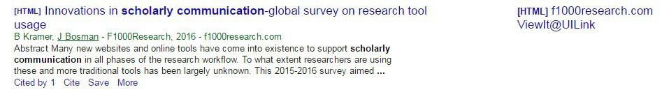 UILink in Google Scholar