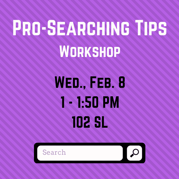 Pro-Searching Tips workshop