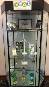 sustainability display case