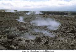 Image of Fumaroles near Halema u'mau Crater in Kilauea Caldera