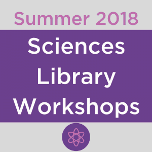 Summer 2018 Sciences Library Workshops, Model of atom symbol