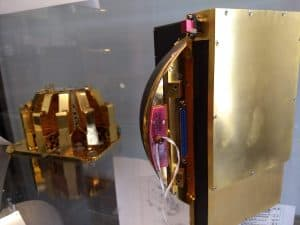 Image of gold flight hardware