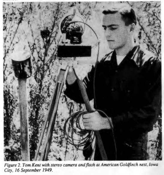 Image of Tom Kent with camera in 1949