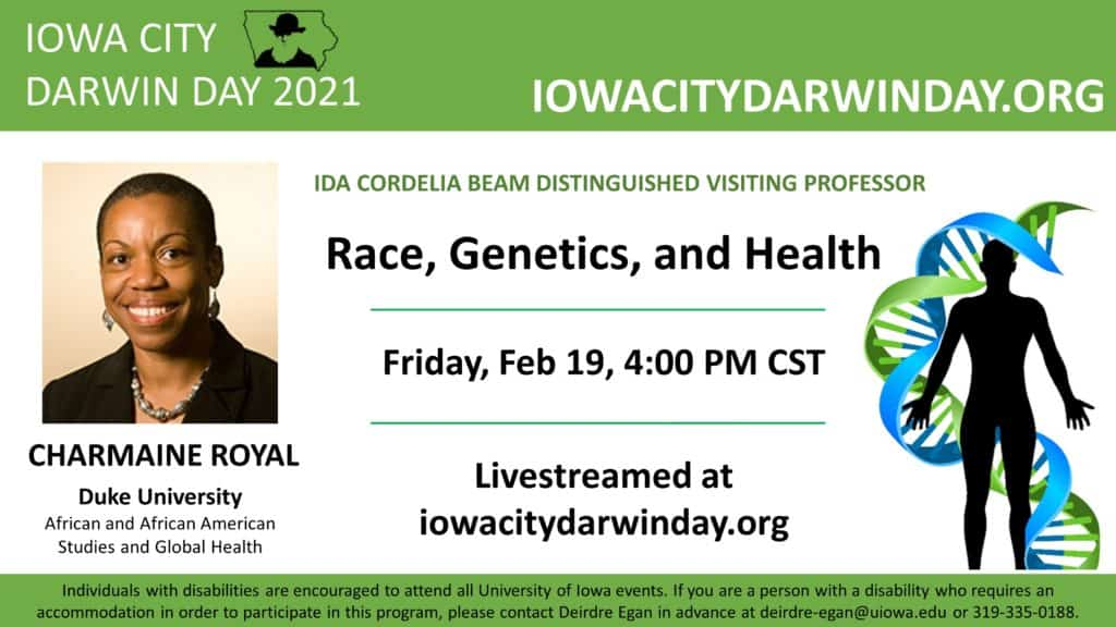 Race Genetics and Health. Friday February 19 4:00 PM CST
