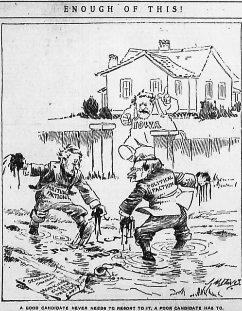 """Enough of this!"" By J. N. ""Ding"" Darling, Des Moines Register, January 25, 1908"