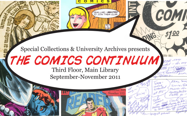 Poster of comics exhibition