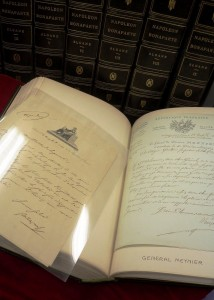 Napoleon Letter and books