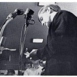 Steve Smith at a Microphone in the mid 1960s