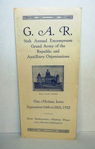Program from the 56th Annual Encampment at the Iowa State Capitol