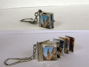 Miniature keychain book - University of Iowa Special Collections