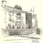 Hunt's house at 16 Rowan Road. From Arthur St. John Adcock's Famous Houses and Literary Shrines of London.