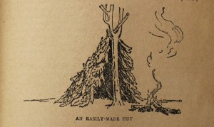 """An Easily-Made Hut"" (""Scouting for Boys"", 1910)."