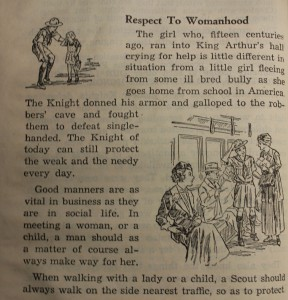 """Respect to Womanhood"" (1945 Handbook)."