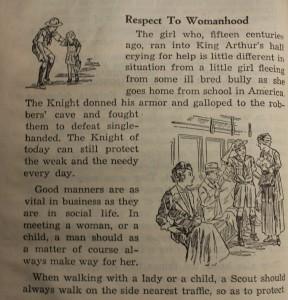 """Respect to Womanhood"" (1945 Handbook)."