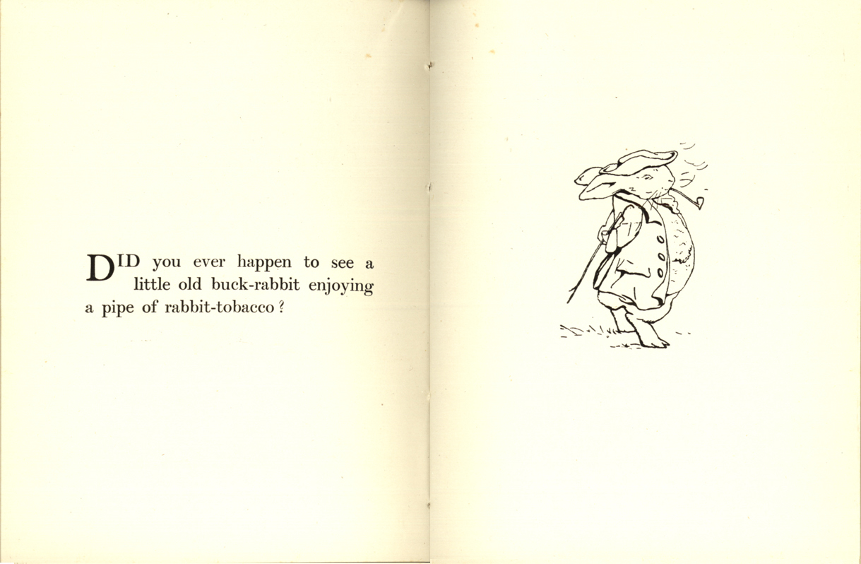 Another Set Of Omitted Pages Show A Rabbit Smoking Pipe Tobacco Which Only Appears In The Privately Printed Editions