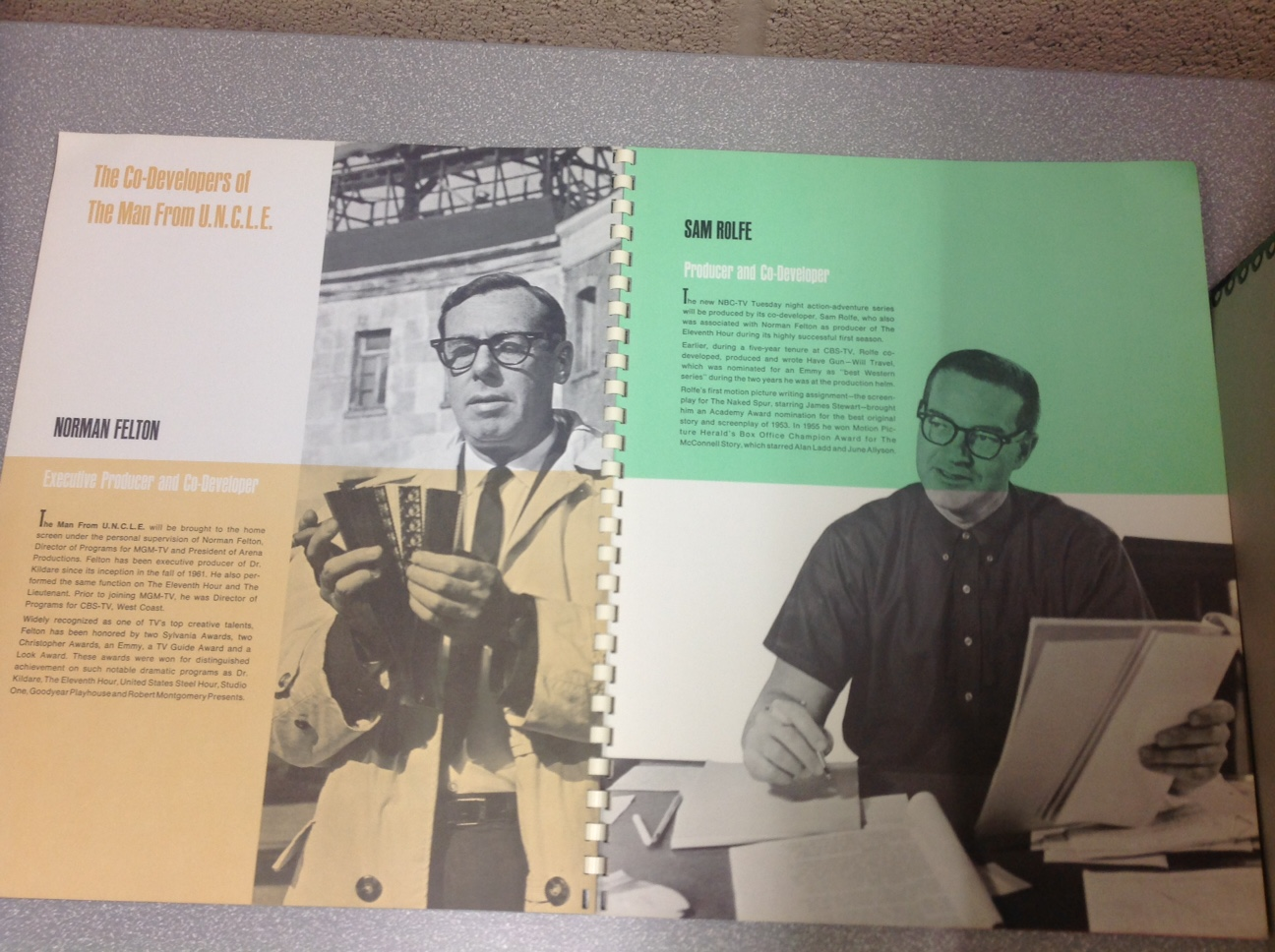Producer Norman Felton profiled in the booklet.