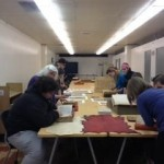 Image of a class using Special Collections materials