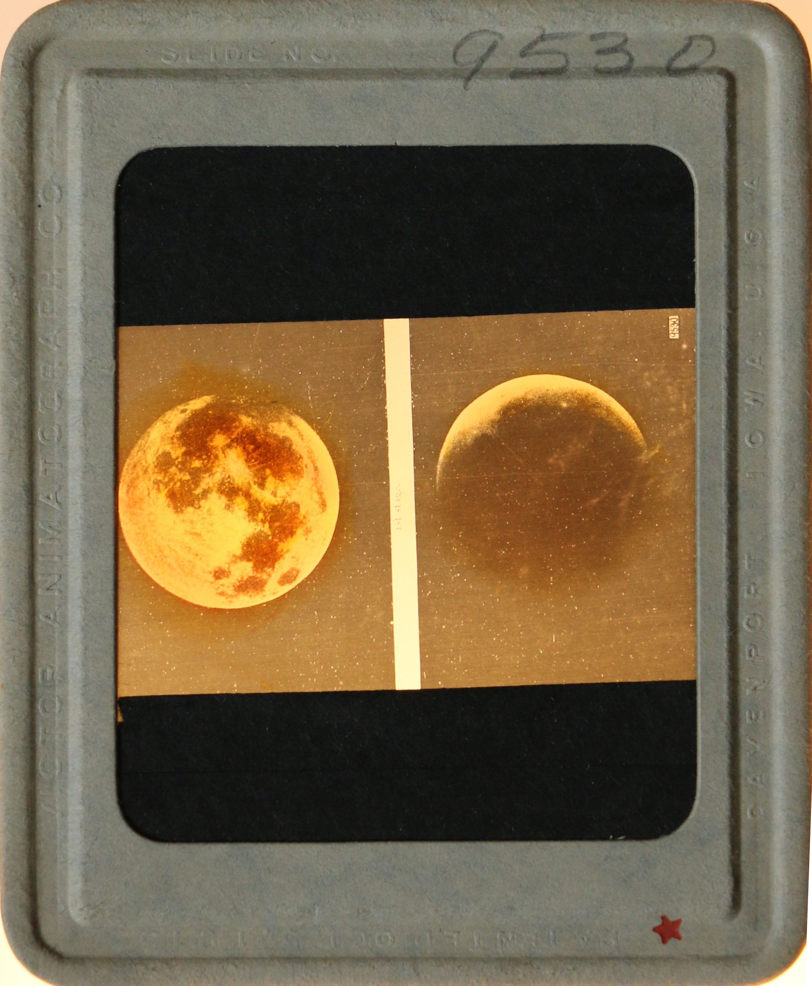 Slide showing the moon