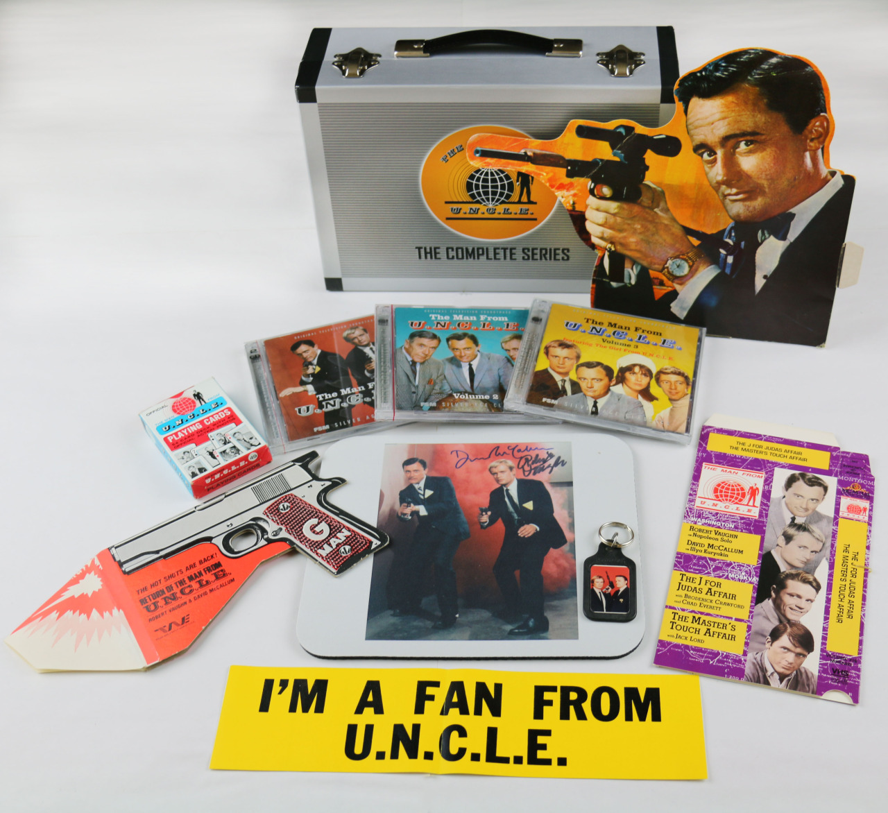 Memorabilia from the Man From U.N.C.L.E. tv show