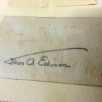 Thomas Edison signature