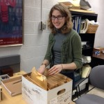 Image of Annie Tunnicliff processing archives