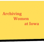 Logo for archiving women at iowa