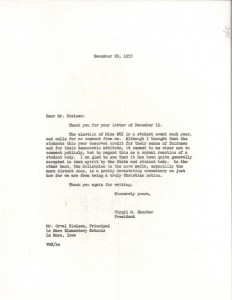 Letter to Virgil Hancher