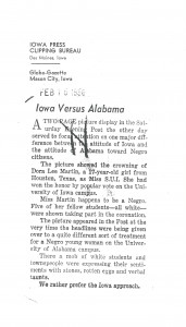Washington Post and Mason City, IA articles comparing the experiences of the two women