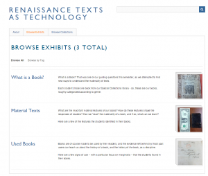 Rennaissance Texts as Technology main page
