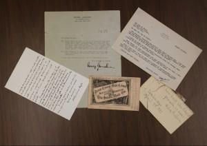 signatures for Arthur Conan Doyle, George Gershwin, Harry Houdini, Helen Keller, and Carrie Nation.